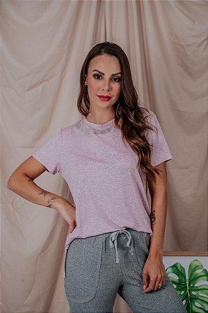 T-Shirt La Vie Est Belle rosa