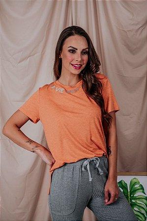T-Shirt La Vie Est Belle laranja