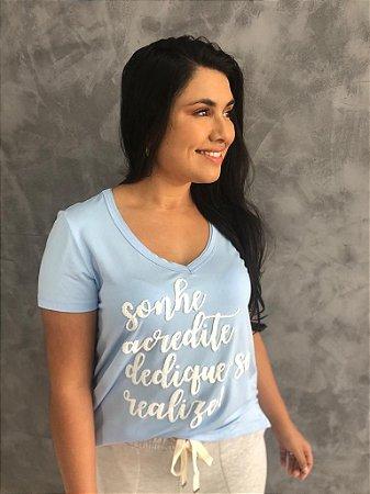 T-shirt Sonhe azul serenity