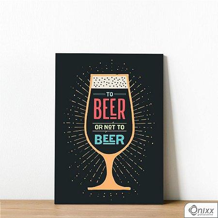 Placa Decorativa Beer Or Not Beer Color
