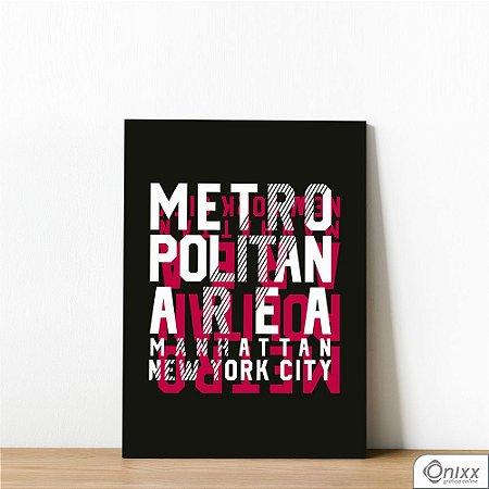 Placa Decorativa Metropolitan NY