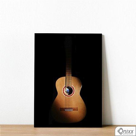 Placa Decorativa Violão Black