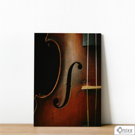 Placa Decorativa Violino Perfil