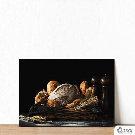 Placa Decorativa Bread And Black Theme