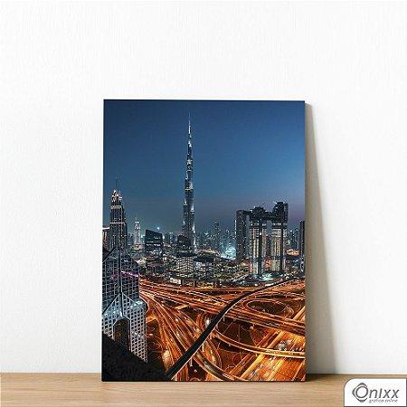 Placa Decorativa Dubai Lights