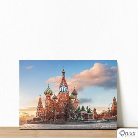 Placa Decorativa Red Square