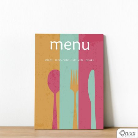 Placa Decorativa Menu Vintage