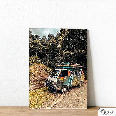 Placa Decorativa Van em Viagem