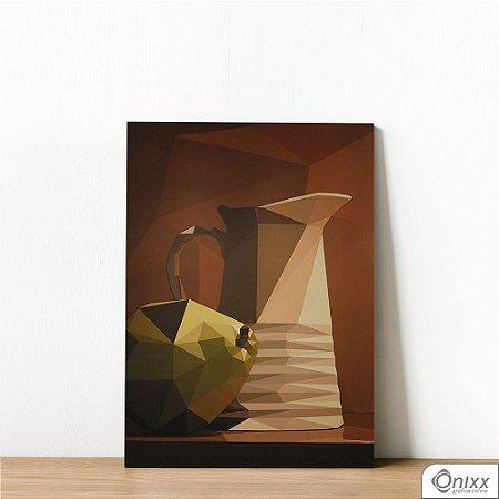 Placa Decorativa Jarra Cubismo Morto