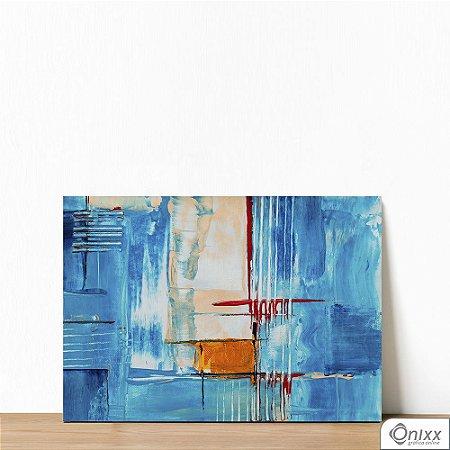 Placa Decorativa Série Blue Expressive