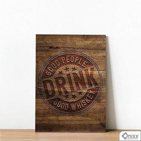 Placa Decorativa Good Drink In Wood