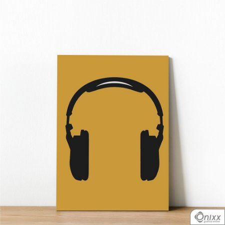 Placa Decorativa Série Sounds ( Fone )