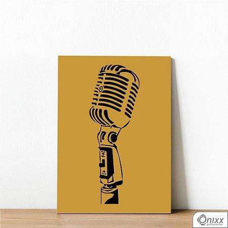 Placa Decorativa Série Sounds ( Mic )