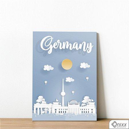 Placa Decorativa Série Papercut Germany