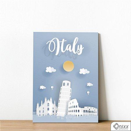 Placa Decorativa Série Papercut Italy