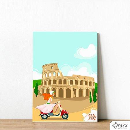 Placa Decorativa Série Love Italy Coliseum