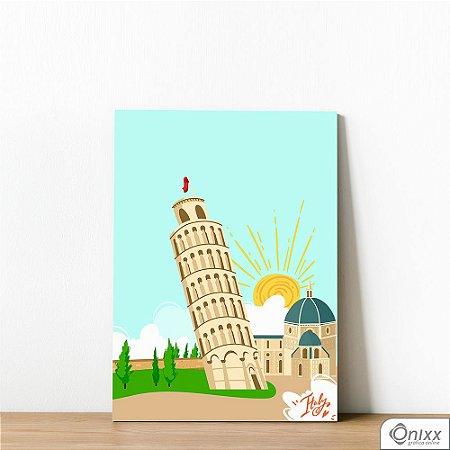 Placa Decorativa Série Love Italy Tower Of Pisa