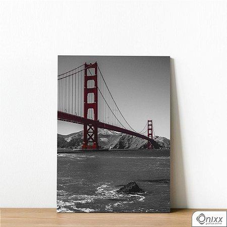 Placa Decorativa Golden Gate
