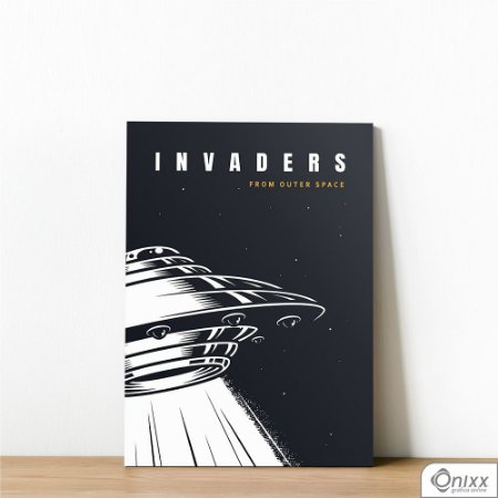 Placa Decorativa Série Lost In Space ( Invaders )