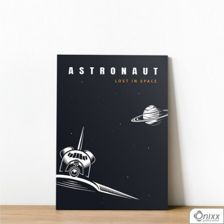 Placa Decorativa Série Lost In Space ( Astronaut Ship )