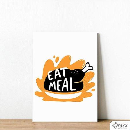 Placa Decorativa Série Cooking Colors ( Eat Meal )