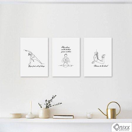 Kit de Placas Decorativas Yoga