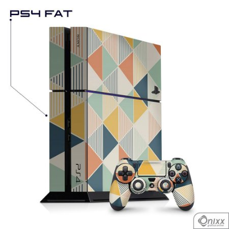 Skin PS4 Triângulos Coloridos