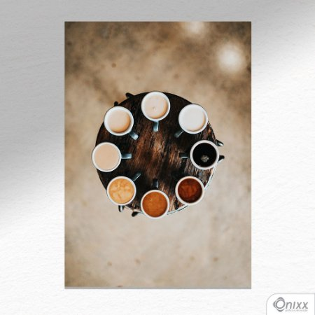 Placa Decorativa Coffee Kinds A4