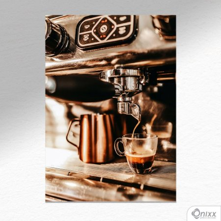 Placa Decorativa Coffee Machine A4
