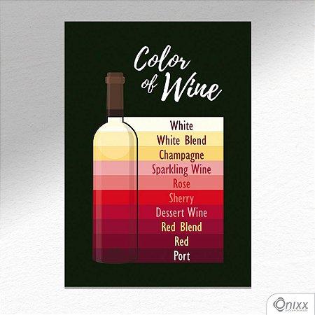 Placa Decorativa Cores Dos Vinhos A4