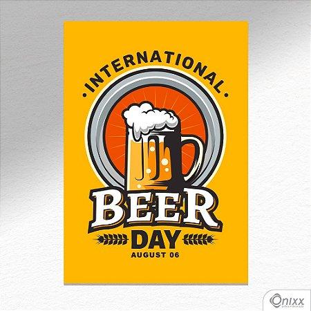 Placa Decorativa International Beer Day A4