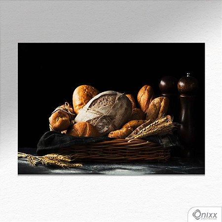 Placa Decorativa Bread And Black Theme A4