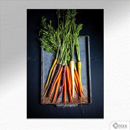 Placa Decorativa Types Of Carrots A4