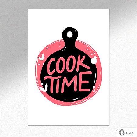 Placa Decorativa Série Cooking Colors ( Cook Time ) A4