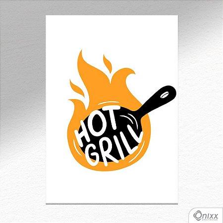 Placa Decorativa Série Cooking Colors ( Grill ) A4