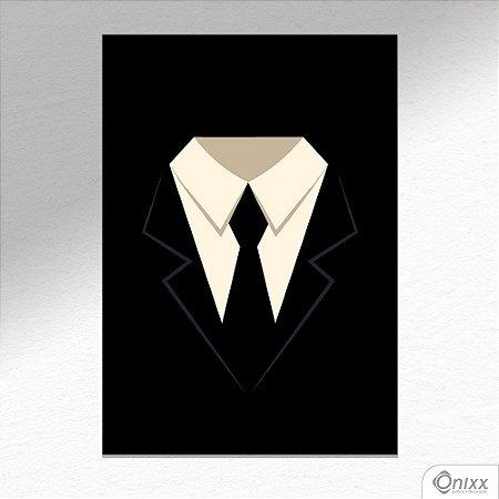 Placa Decorativa Man In Black A4