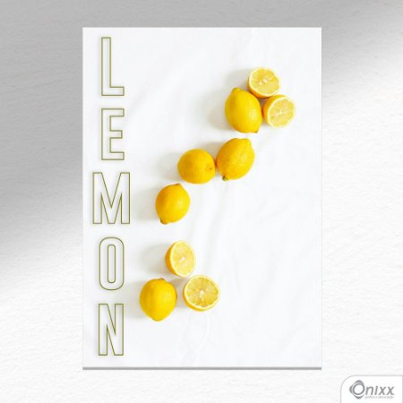 Placa Decorativa Lemon A4