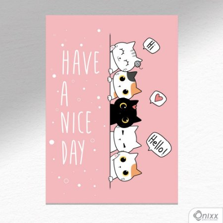 Placa Decorativa Have A Nice Day A4