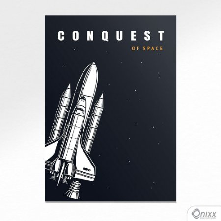 Placa Decorativa Série Lost In Space ( Conquest Ship ) A4