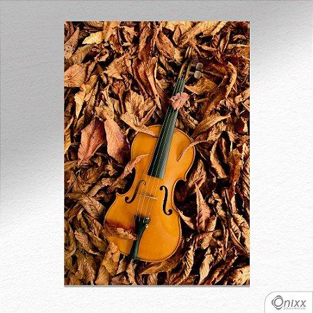 Placa Decorativa Violino Nas Folhas A4