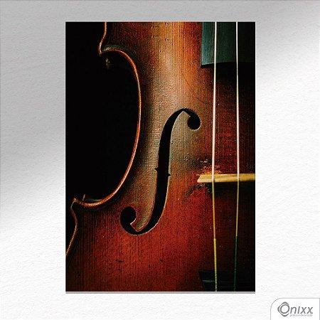 Placa Decorativa Violino A4