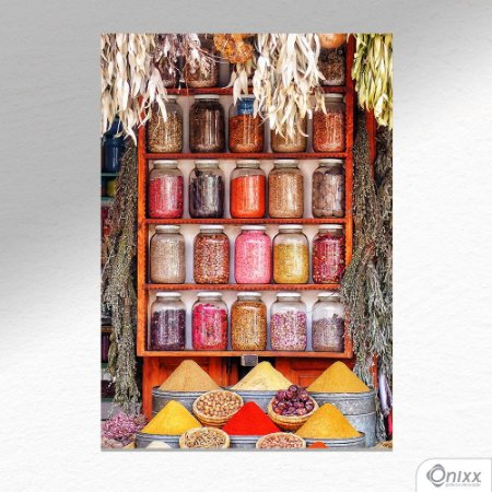 Placa Decorativa Série Spices Various Colorful A4