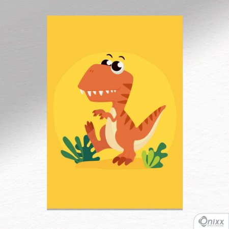 Placa Decorativa T-rex Triller A4