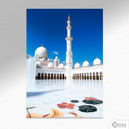 Placa Decorativa White Mosque A4