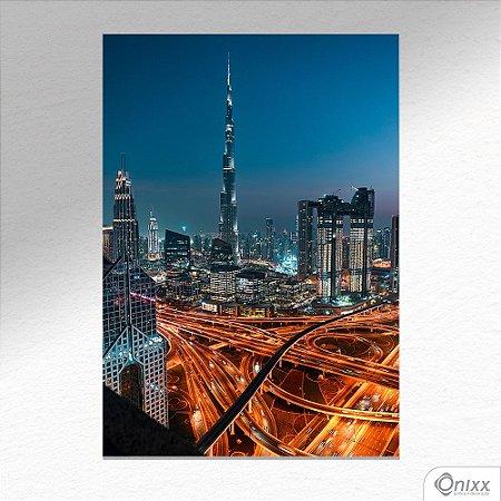 Placa Decorativa Dubai Lights A4