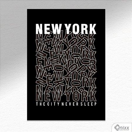 Placa Decorativa New York City A4