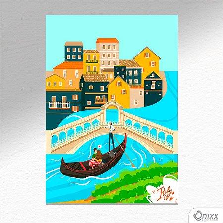 Placa Decorativa Série Love Italy Venice A4