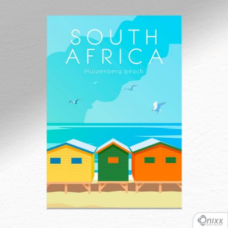 Placa Decorativa Série Poster South Africa A4