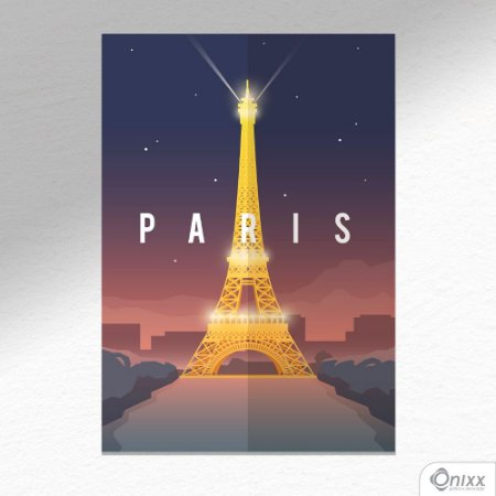 Placa Decorativa Série Poster Paris A4