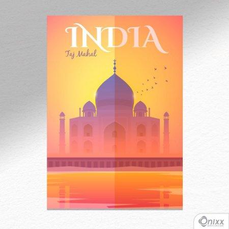 Placa Decorativa Série Poster India A4